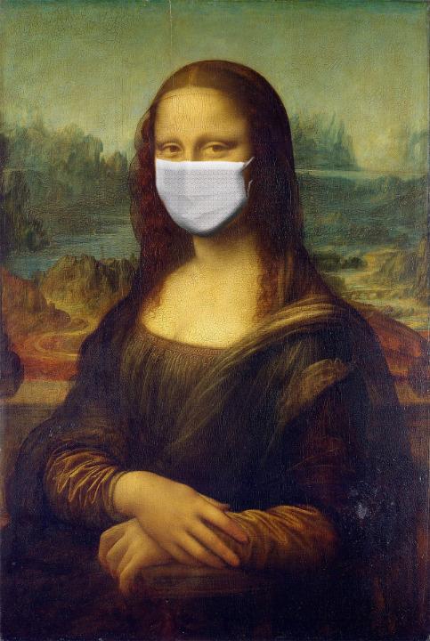 マスクをつけたモナリザ